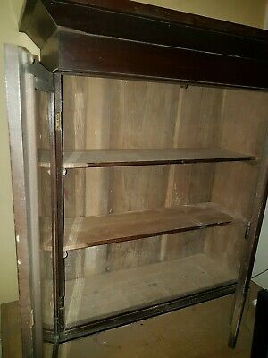 Scottish bookcase/linen press glass fronted circa 1840 untouched orignal.