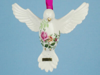 Royal Albert OLD COUNTRY ROSES Christmas Ornament DOVE of PEACE