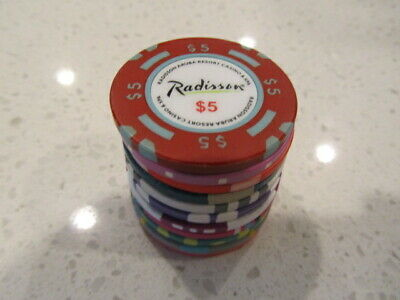 11 Casino Gaming Poker Chip Lot Las Vegas $1 New & Used Chipco Paulson Clay