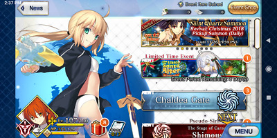 FGO NA Account / Fate Grand Order 2SSR Artoria archer NP2 , Artoria saber, etc