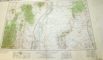 "1954 Tularosa, New Mexico Topographic Geological Map / 32"" x 22"" Size"