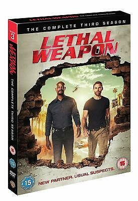 LETHAL WEAPON (Arma Letale) Stagione 3 Completa BOX 3 DVD in Inglese NEW .cp