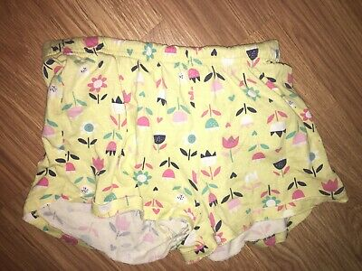 George Girls 7-8 Years Yellow Floral Pattern Shorts (Ex Cond)