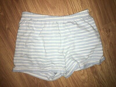George Girls 6-7 Years Blue/White Striped Shorts (Ex Cond)