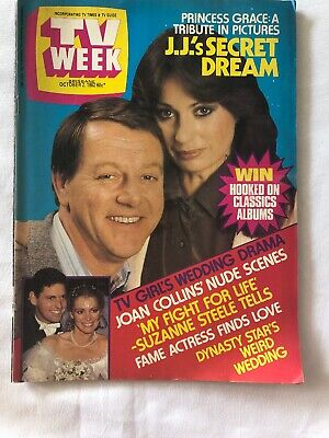 Vintage TV Week 1982 Dynasty Joan Collins Cop Shop A Country Practice