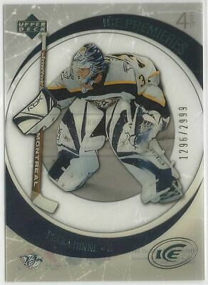 2005/06 Pekka Rinne Upper Deck Ice Rookie Card 1296/2999