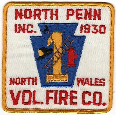 North Penn Wales Montgomery County Pennsylvania PA Fire Company Department Patch