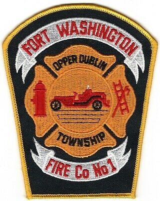 Fort Washington Montgomery County Pennsylvania Fire Company Department Patch