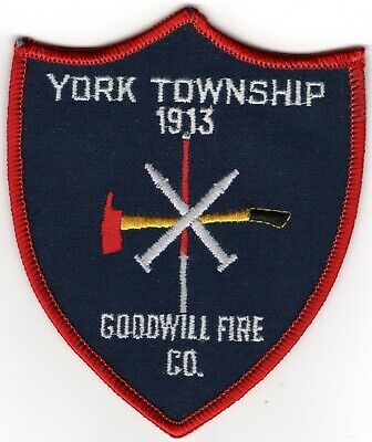 York Township Goodwill County Pennsylvania PA Fire Company Department Patch