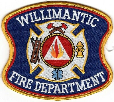 Willimantic Windham County Connecticut CT Fire Company Department Patch