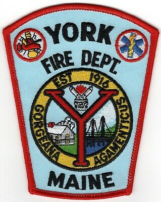 York County Maine ME Fire Company Department Patch