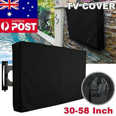 30-58 Inch Waterproof TV Cover Outdoor Patio Flat Television Protector Black