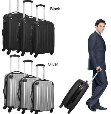 3Pcs ABS Travel Luggage Sets Business Suitcase Trolley With TSA Lock 20/24/28""