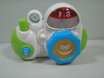 Little Learner Hap-P-Kid My First Camera Lights Sounds Music Laughs Baby Toy EUC