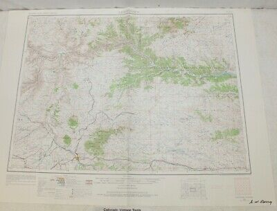 """1954 Lewistown, Montana Topographic Geological Map / 32"""" x 22"""" Size"""
