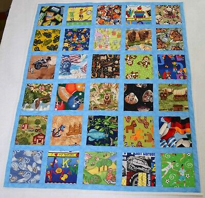 "I SPY Baby Quilt - Baby Security blanket, Wall hanging  33"" x 40"""