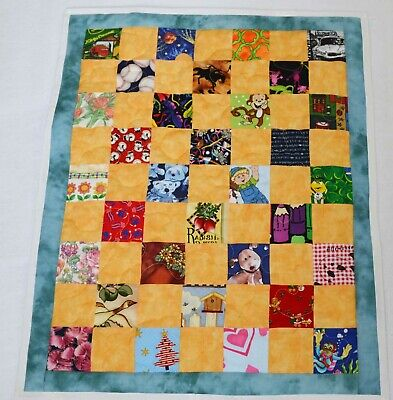 "I SPY Baby Quilt - Baby Security blanket, Wall hanging  20"" x 25"""