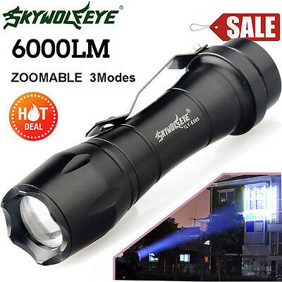 Super Bright 6000LM Lamp Q5 3 Modes ZOOMABLE LED Flashlight Torch AA/14500 Light