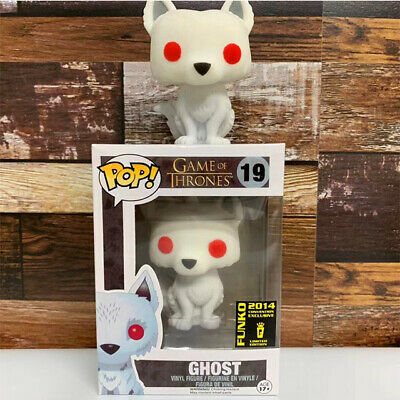 Funko Pop Game of Thrones #19 Ghost (Flocked) Rare Vaulted Vinyl Figure In stock