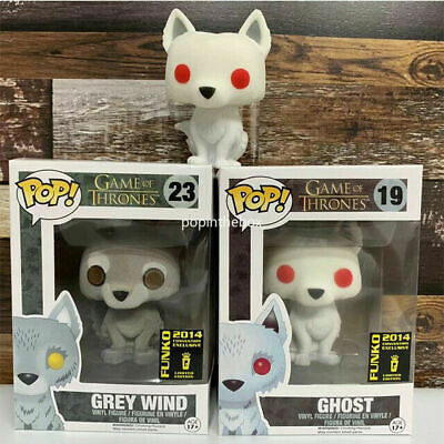 Funko Pop ! Game of Thrones Grey Wind Ghost (Flocked) Rare Vaulted Vinyl Figure