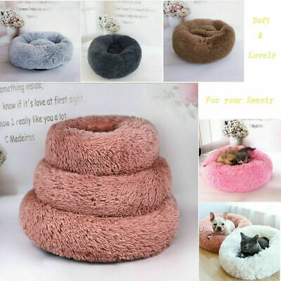 UK Dog Pet Bed Mat large Luxury Shag Warm Fluffy Puppy Kitten Fur Donut Cushion