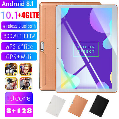 10.1 Inch 4G LTE Tablet PC 8+128GB Android Bluetooth Dual SIM Phablet GPS Camera