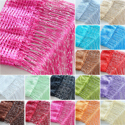 Door Glitter String Curtain Panels Fly Screen Room Divider Voile Net Curtains J1