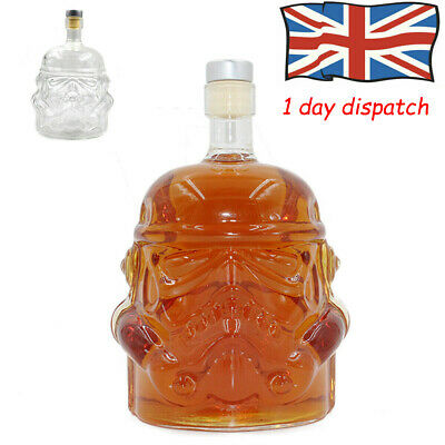 UK✔ HOT Star Wars Stormtrooper Glass Drinks Decanter Whisky Sherry Liquer