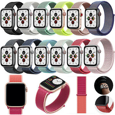 For Apple Watch Nylon Woven Sport Loop Band Strap iWatch Series 5/4/3/21 38-44mm
