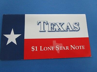 2001  USA $1 Single Note TEXAS LONE STAR NOTE Series 2001  Carded