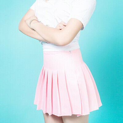 Women Skirt Tennis Girls School Uniform Skater Skirt High Waist Pleated Faddish