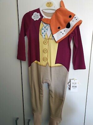 Baby Fantastic Mr Fox Halloween Costume All In One RomperCosplay Set 9-12 Months