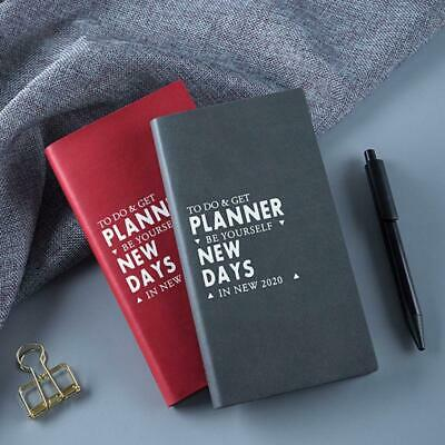 Agenda 2020 Planner Organizer A6 Daily Weekly Notebook Manual Travel Schedule