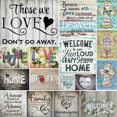 UK Full Drill Home Love Letter 5D Diamond Painting Cross Stitch Embroidery Decor