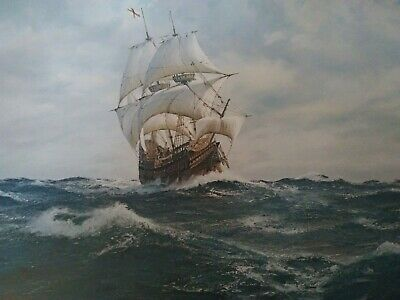 """J STEVEN DEWS """"Mayflower - Voyage of the Pilgrim Fathers"""" LIMITED EDITION Signed"""