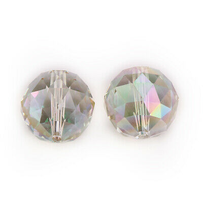 Round Faceted 20mm Loose Beads Crystal Wholesale Glass Charms Spacer Facets Bulk