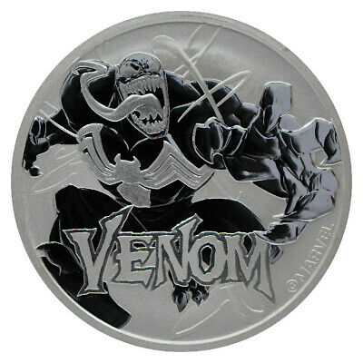 2020 Tuvalu Venom 1 oz Silver Marvel Series $1 Coin GEM BU SKU60105
