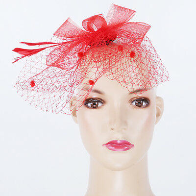 Flower Feather Mesh Facinator Headwear Wedding Party Hat Ladies Party LC