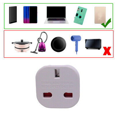 1x Adaptador Blanco Red Enchufe UK Ingles Reino Unido a Europeo UE Schuko White