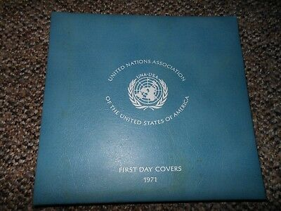 Franklin Mint Complete Set Of Six 1971 Una-Usa Sterling Medals With Album