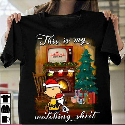 This is my hallmark christmas movies watching charlie brown and snoopy T - Shirt