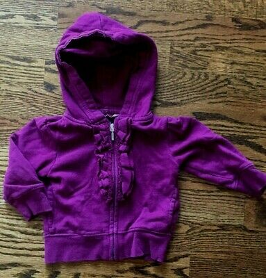 Baby Gap 12-18M Girls Hoodie Zipper Sweatshirt Purple