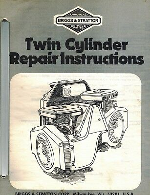 Briggs  Stratton Twin Cylinder Engine Repair Service Manual
