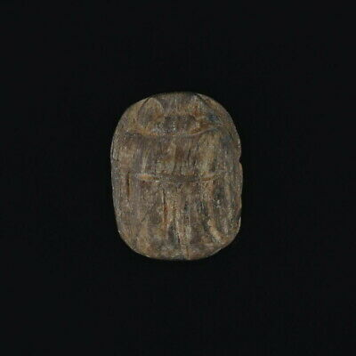Ancient Egyptian Carved Stone Scarab Bead Relic Engraved Artifact Jewelry Making