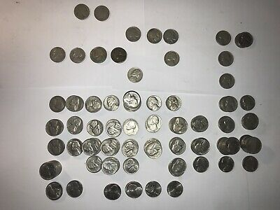 Usa Five Cent Coins 184 Coins From 1902 To 2006 Will Grade Well Look Photo