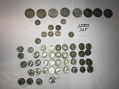 Usa Half Dollar And Dime Collection 8 Half Dollars And 116 Dimes -1912 To 2004
