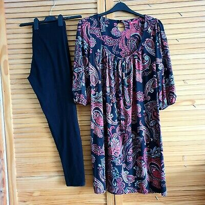 Monsoon dress & leggings size 16/ 18
