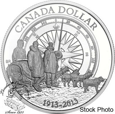 Canada 2013 $1 100th Ann. of the Canadian Arctic Expedition Proof Silver Dollar