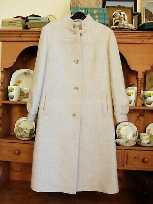 VINTAGE 1970s M&S ST MICHAEL PURE WOOL COAT 1940s HOME FRONT WW2 STYLE 10/12 UK