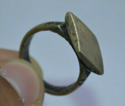 Ancient roman ring FABULOUS bronze warrior ring VERY RARE